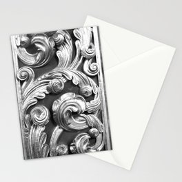 Decorative metalic foliage ornaments Stationery Cards