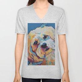 Maltipoo, Cavapoo, Cavachon, Cockerpoo, Mix Breed Custom Pop Art Pet Portrait Unisex V-Neck