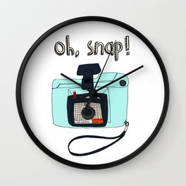 Oh, snap! Polaroid Camera Wall Clock