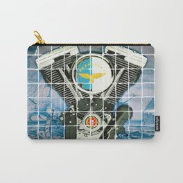 Traditional Portuguese Tile Biker Style Carry-All Pouch