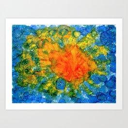 Sun Above Water Art Print