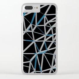 3D Futuristic GEO Lines III Clear iPhone Case