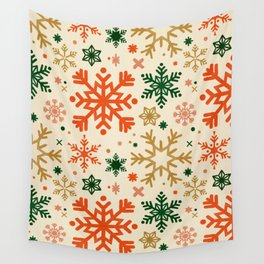 Snowflake Collection – Retro Palette Wall Tapestry
