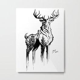Needles & Antlers Metal Print