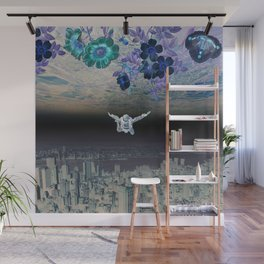 A Skydiver Between Two Parallel Universes Wall Mural