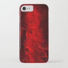 Red Abstract Paint iPhone Case