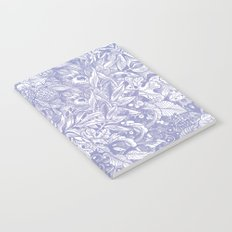 pastel purple forest leaves pattern Notebook