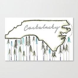 Cackalacky. Canvas Print