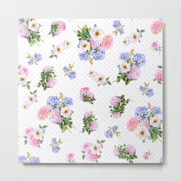 Poke a Dot Spring Bouquet Metal Print