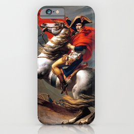 Jacques Louis David Napoleon Crossing the Alps iPhone Case