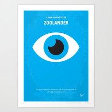 No362 My Zoolander minimal movie poster Art Print