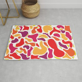 Bright Lava Lamp Geometric Shapes Rug