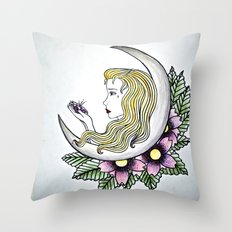 Dirty - Moon Throw Pillow