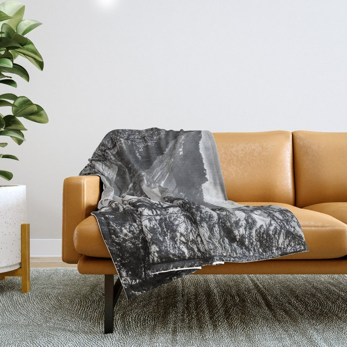 Forest Lake Retreat - Crater Lake Throw Blanket