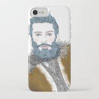 beard iPhone & iPod Cases featuring beard by katiwo
