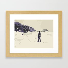 Winter's best friends Framed Art Print