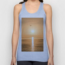 Flight Over The Sea At Sunset Unisex Tank Top
