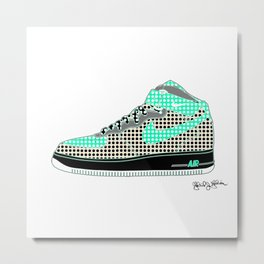 Airforce 1 Air Pop Art Sneakers 7th Edition Metal Print