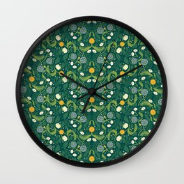 Weeds are just flowers in the wrong place Wall Clock