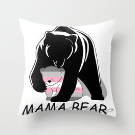 Mama Bear Demigirl Throw Pillow