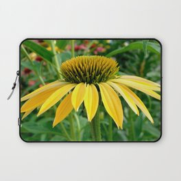 Yellow Echinacea/Coneflower Sideview Laptop Sleeve
