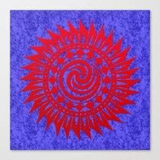 winzah red mandala Canvas Print