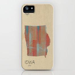 Iowa state map iPhone Case