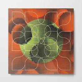 string theory [black/orange/green] Metal Print