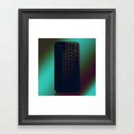Brushed Metal Keyboard Framed Art Print