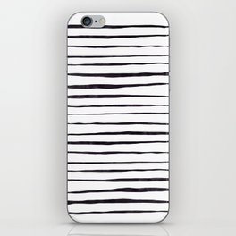Black Ink Linear Experiment iPhone Skin