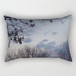Blue fall Rectangular Pillow