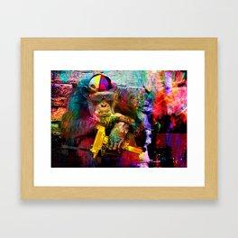 UZI MØNKEY Framed Art Print