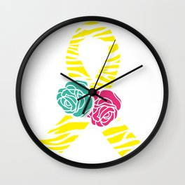 Endometriosis Ribbon 2 Wall Clock