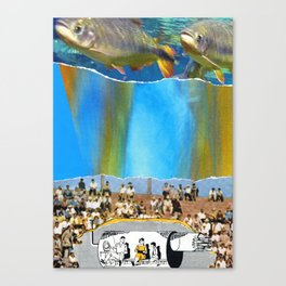 Swim With Both Hands On The Ground Canvas Print