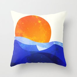 Sun in the Dunes Throw Pillow