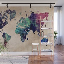Cold World Map #map #worldmap Wall Mural