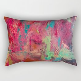 Survival// Trigger Warning/ abstract/pink Rectangular Pillow