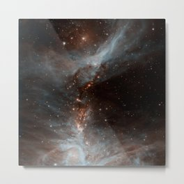 Black Galaxy Metal Print