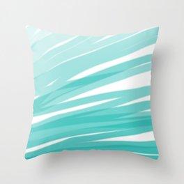 Bahama Blue Line Art, Variable Opacity Color Study - 1 Throw Pillow