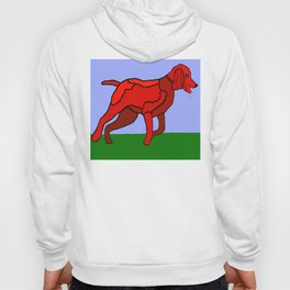 Romping Miniature Apricot Poodle Cartoon Hoody