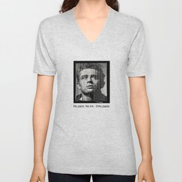 James Dean Papercut Unisex V-Neck