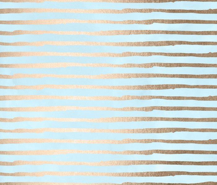 Abstract Stripes Gold Tropical Ocean Sea Turquoise Metal Travel Mug