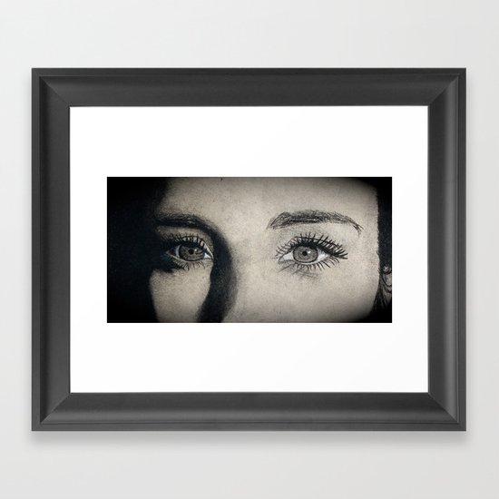 Charcoal drawing Framed Art Print