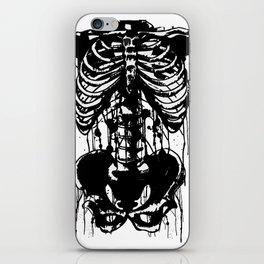Drip skeleton chest and pelvic bone horror piece or anatomy piece  iPhone Skin