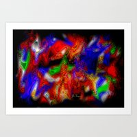 psych Art Prints featuring Psych out by JT Digital Art