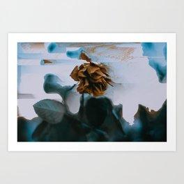 Glitched Rose Color Art Print
