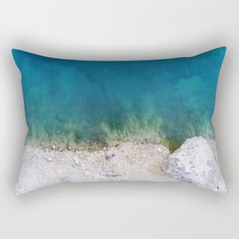 Blue from the top 1 Rectangular Pillow