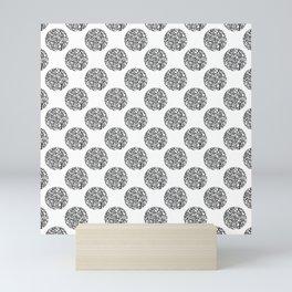 Abstract polka dot Mini Art Print