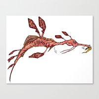 sea horse Canvas Prints featuring Sea Horse by Jonathan Gehrke
