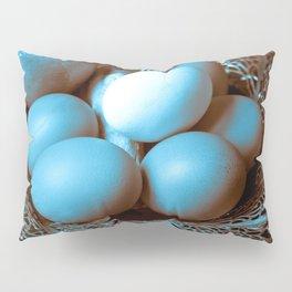 Egg Ginger Lemon blue Pillow Sham